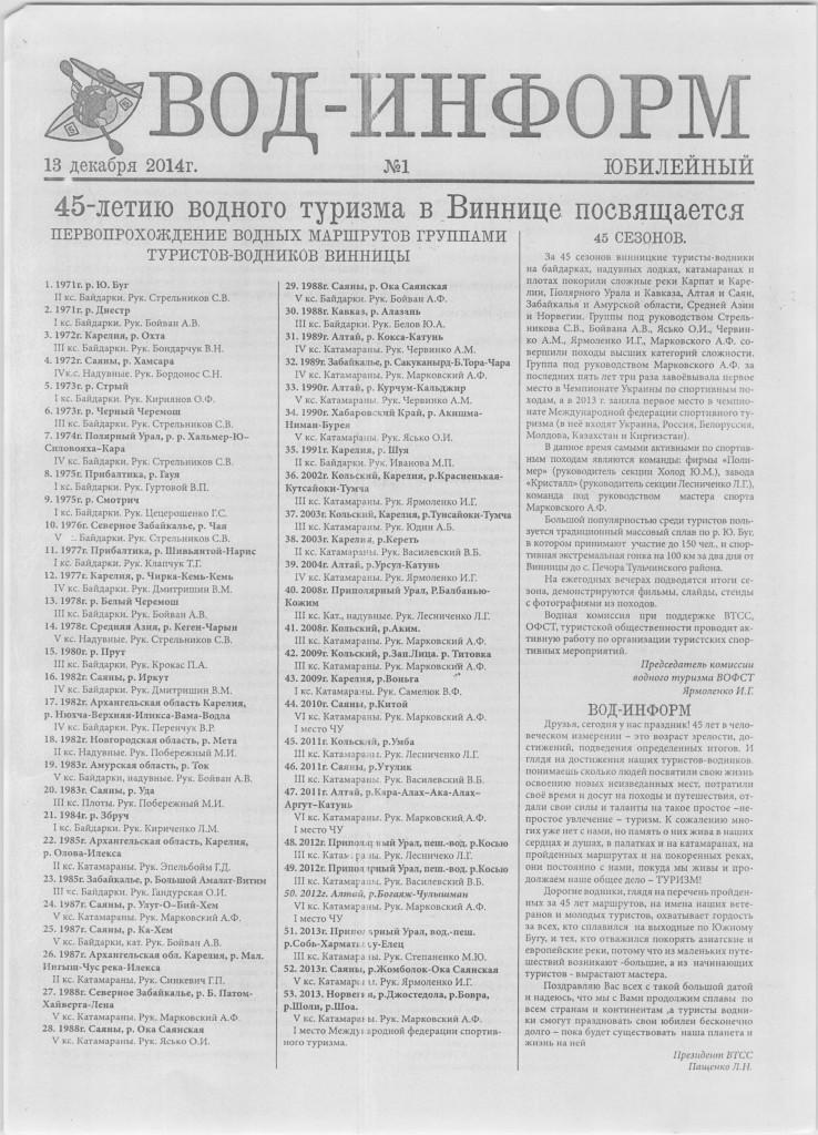 45 лет водного туризма в Виннице_1