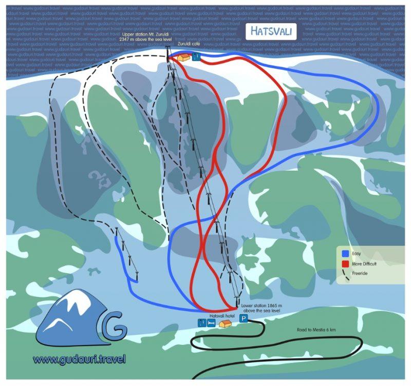 Карта трасс Хацвали