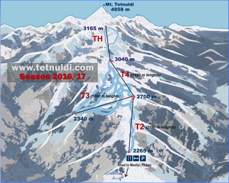 Карта трасс Тетнульди