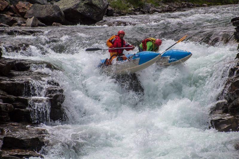 Первый порог в Норвегии на реке Driva