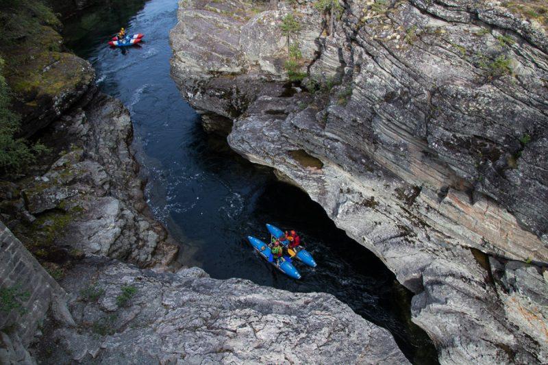 Заходим в каньон Граура на реке Driva