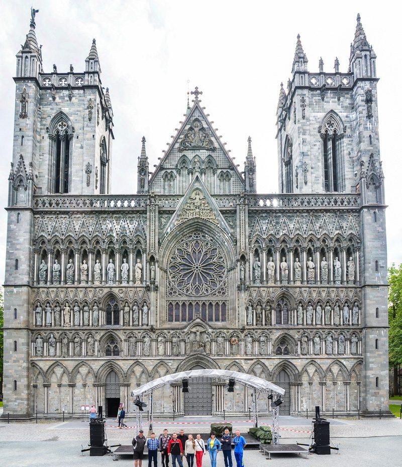 Норвегию начинаем с экскурсии в Тронхейм, Нирадосский собор