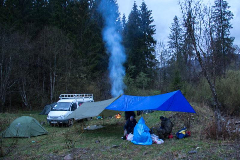 Черная Тиса - лагерь на старте