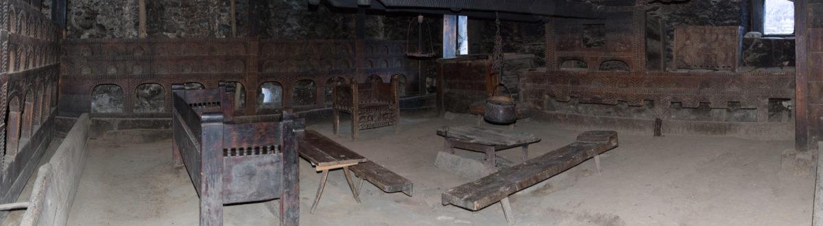 Сванский дом внутри
