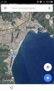 Турция Мармарис. Мармарис на картах Google