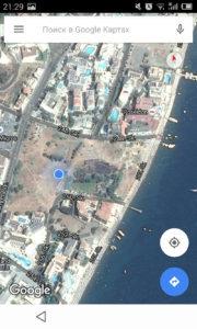 Турция Мармарис. Наш новый отель на картах Google
