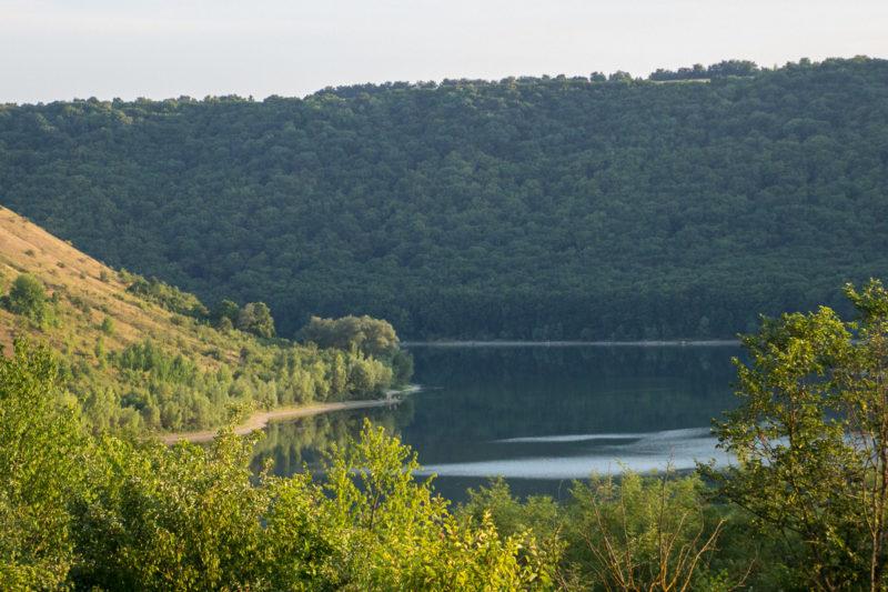 Отдых на реке Ушица. Вечером