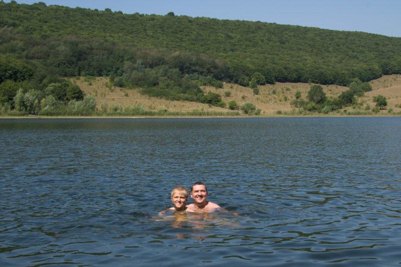 Отдых на реке Ушица. Плаваем с сыном